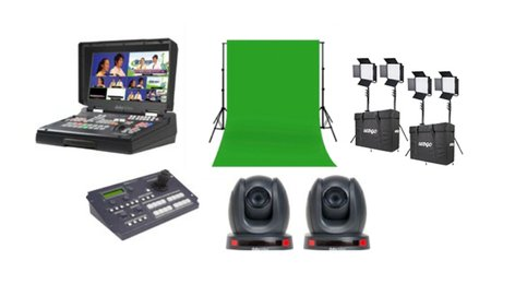 Data Video EPB-1340G - Educator's Production Bundle With PTC-140 Cameras And Green Screen