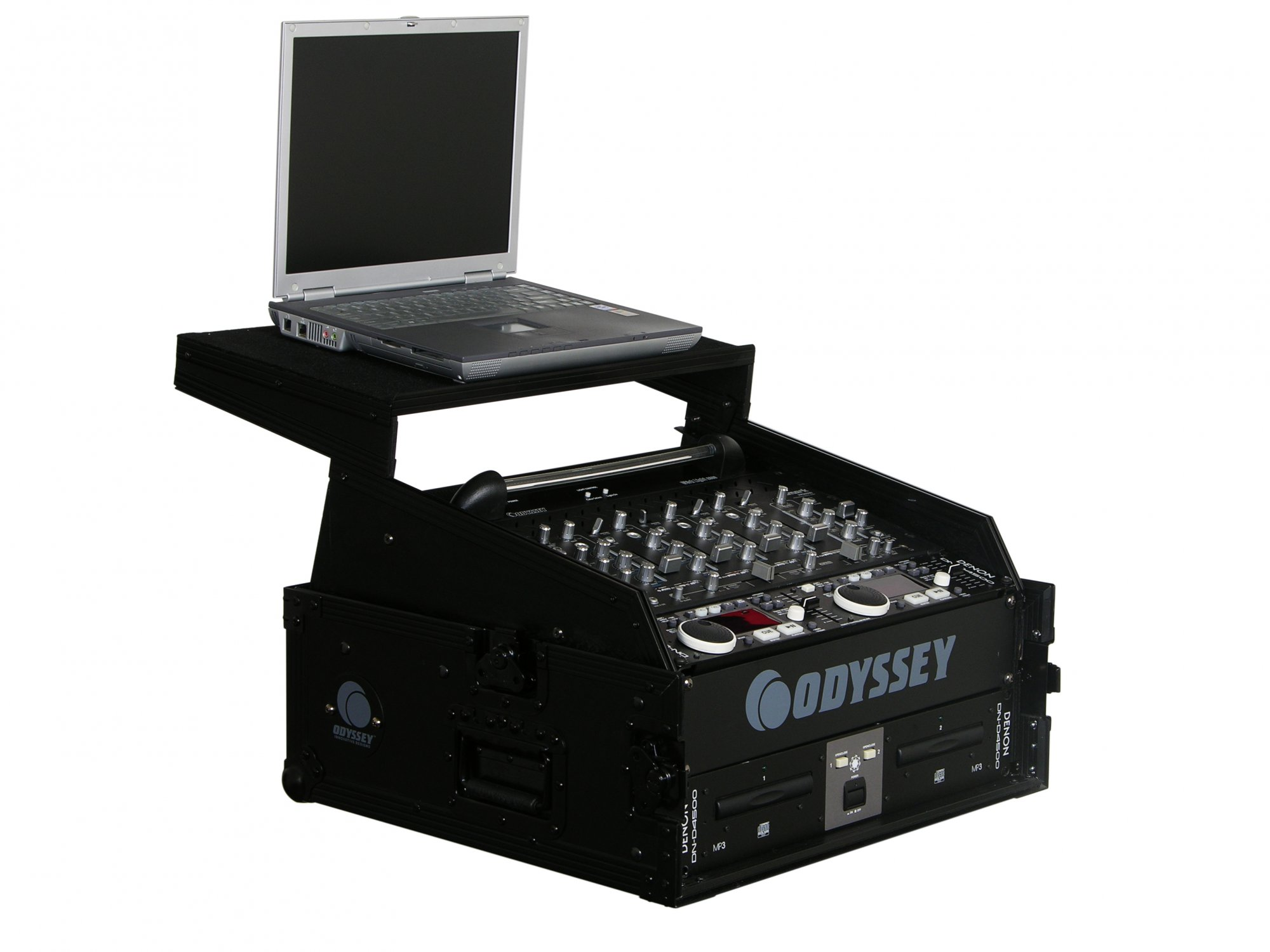 Odyssey Case FZGS1002BL - Combo Rack, 10 Space Top Rack, Glide Style, Black Label