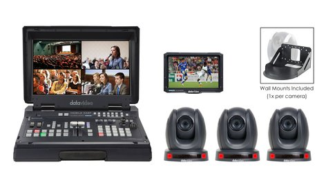 Data Video HS-1600T-3C140TM - HDBaseT Mobile Cast Kit With 3x PTC-140T And Wall Mounts