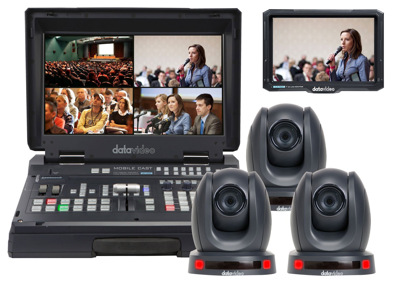 Data Video HS-1600T-2C140TCM Live Stream Video Kit - 2 Camera System