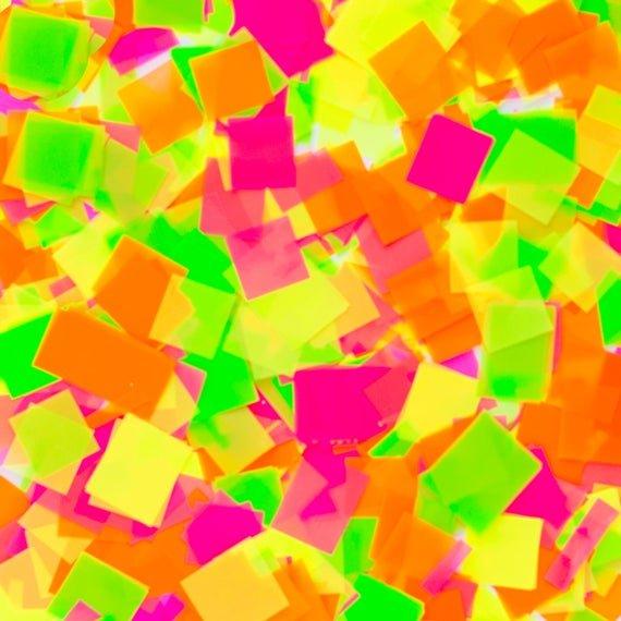 Confetti - Metallic Loose Neon  - Green, Orange, Pink, Yellow