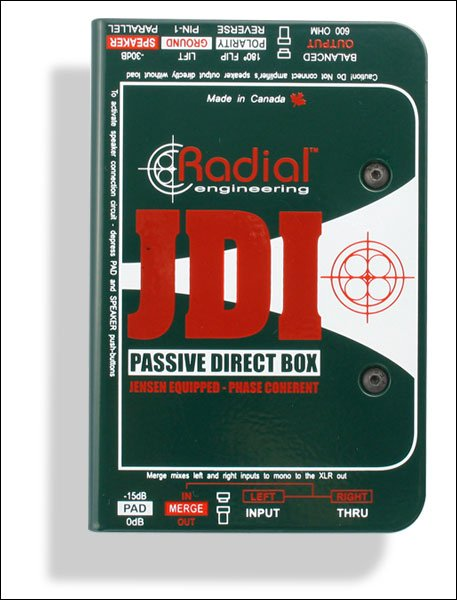 Radial JDI - Passive Direct Box for Acoustic Guitar, Bass and Keyboards