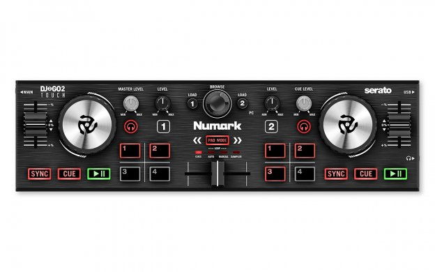Numark DJ2GO2 Touch - Pocket DJ Controller with Capacitive Touch Jog Wheels