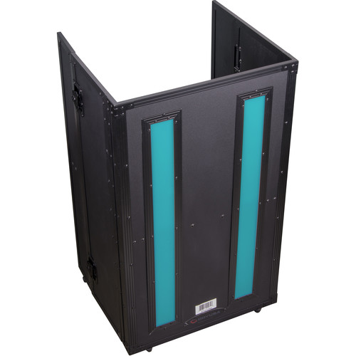 Odyssey Case FFX2F2136BL - DJ Combo Table, Fold-Out with LED Panel - 21 x 36