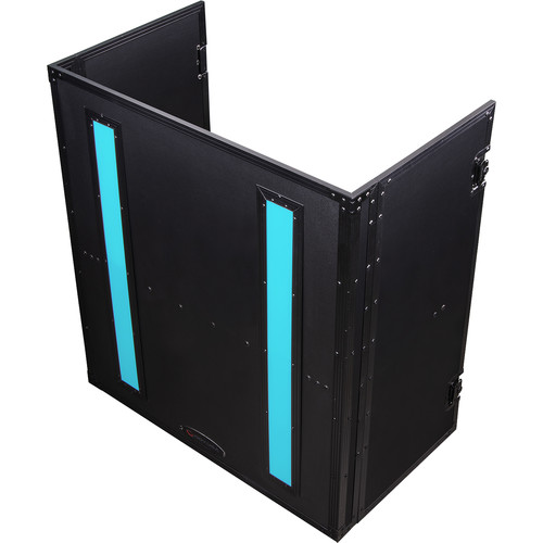 Odyssey Case FFX2F3336BL - DJ Combo Table, Fold-Out with LED Panel - 33 x 36