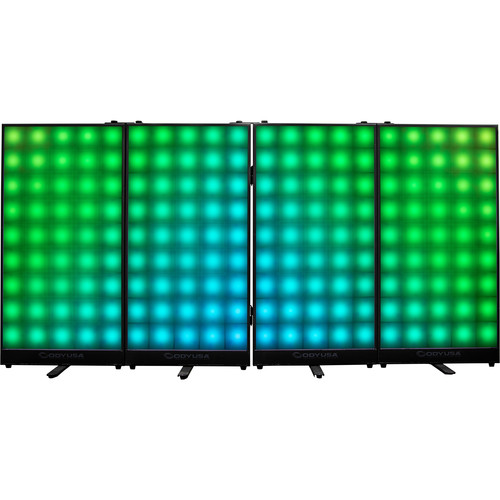 Odyssey Case HLFXF4P1 - Four Panel LED FX Facade with Tour Case