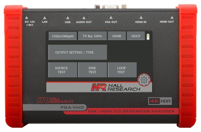 Hall Research PGA-VHD HDMI & VGA Video Generator, Tester, and Analyzer