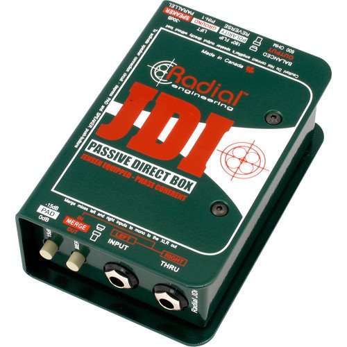 Radial JDI Premium Passive Direct Box for Acoustic Guitar, Bass, and Keyboards