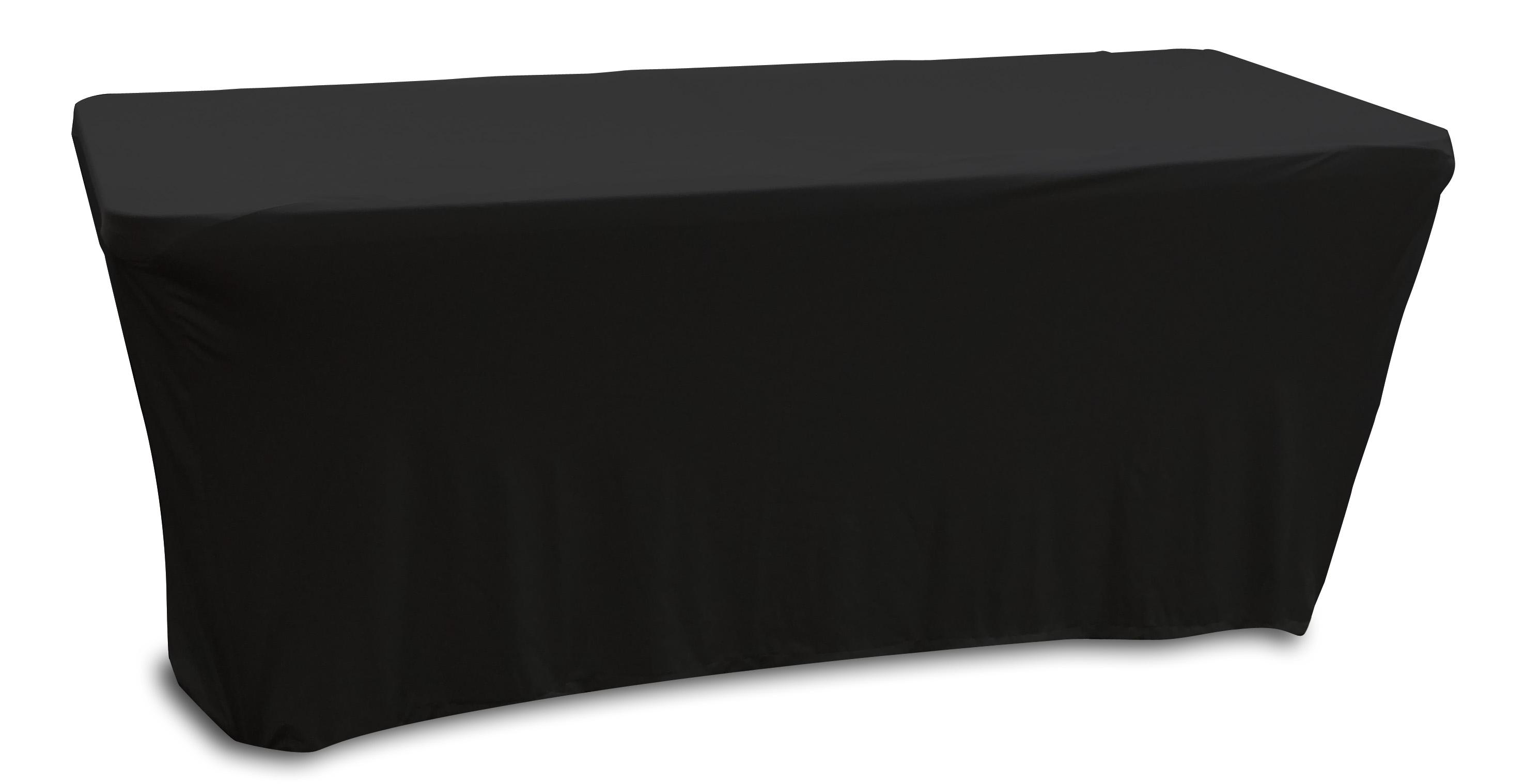 Odyssey Case SPATBL6BLK- Scrim for Banquet Table, 6'  Black