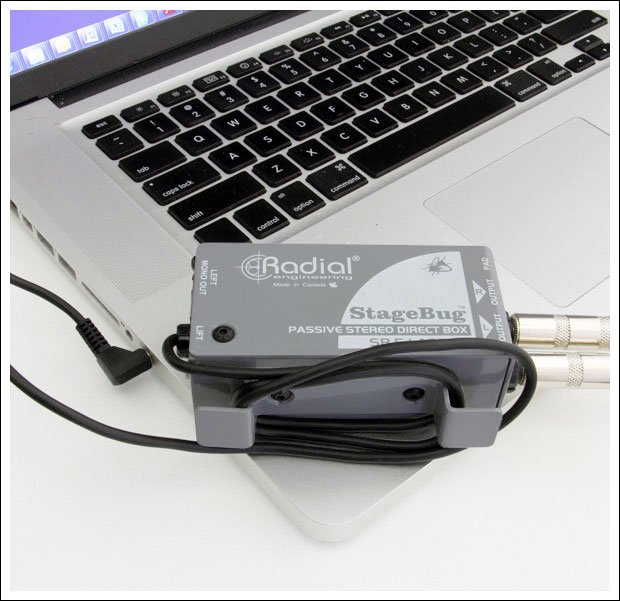 Radial SB5 Laptop - Compact Stereo Direct Box for Computers with attached cable