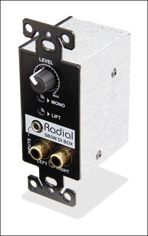 Radial SB-5W - Wall Mount Stereo Direct Box, Stage Bug Series
