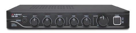 Ashly TM-360 3-Channel Public Address Mixer/Amplifier - 60W