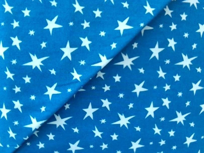 White Stars on Blue Background