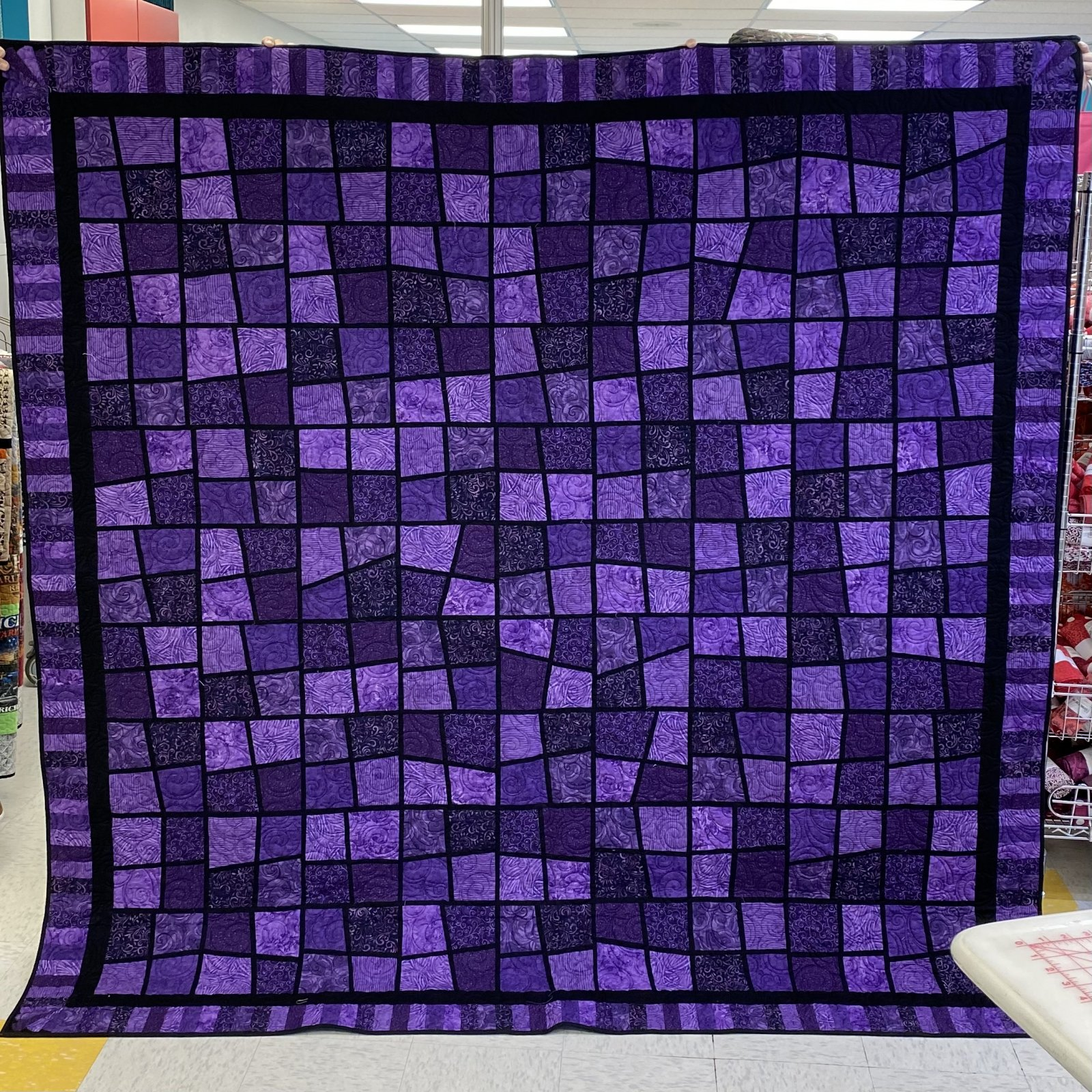 Purple Quilt with Double Batting 88 x 88