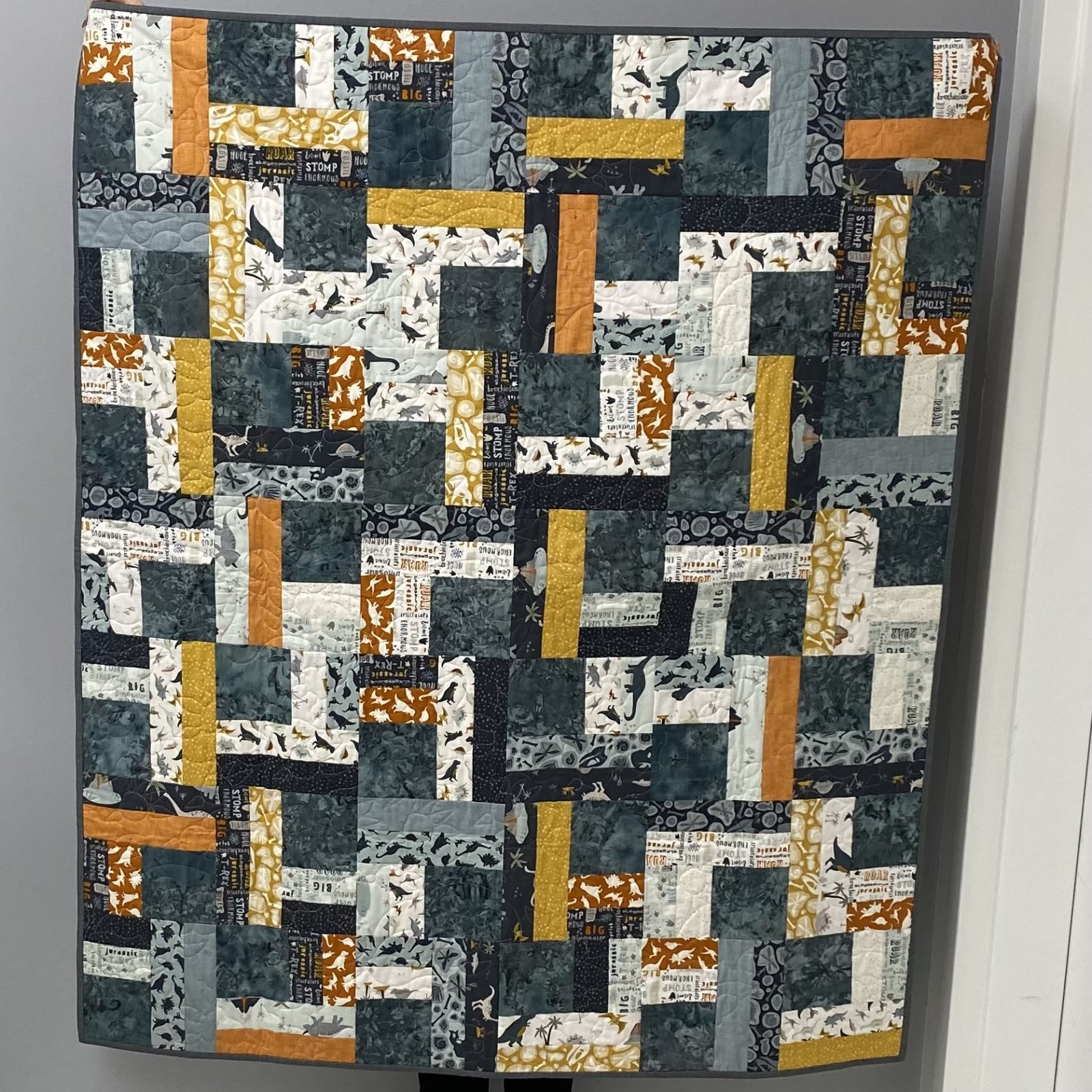 Dinosaur Quilt 48 x 57