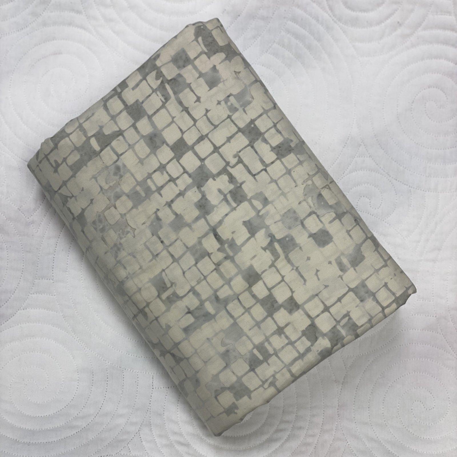 White Checkerboard Batik
