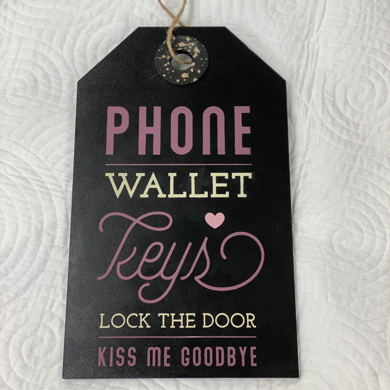 Phone, Wallet, Keys 7 x 13