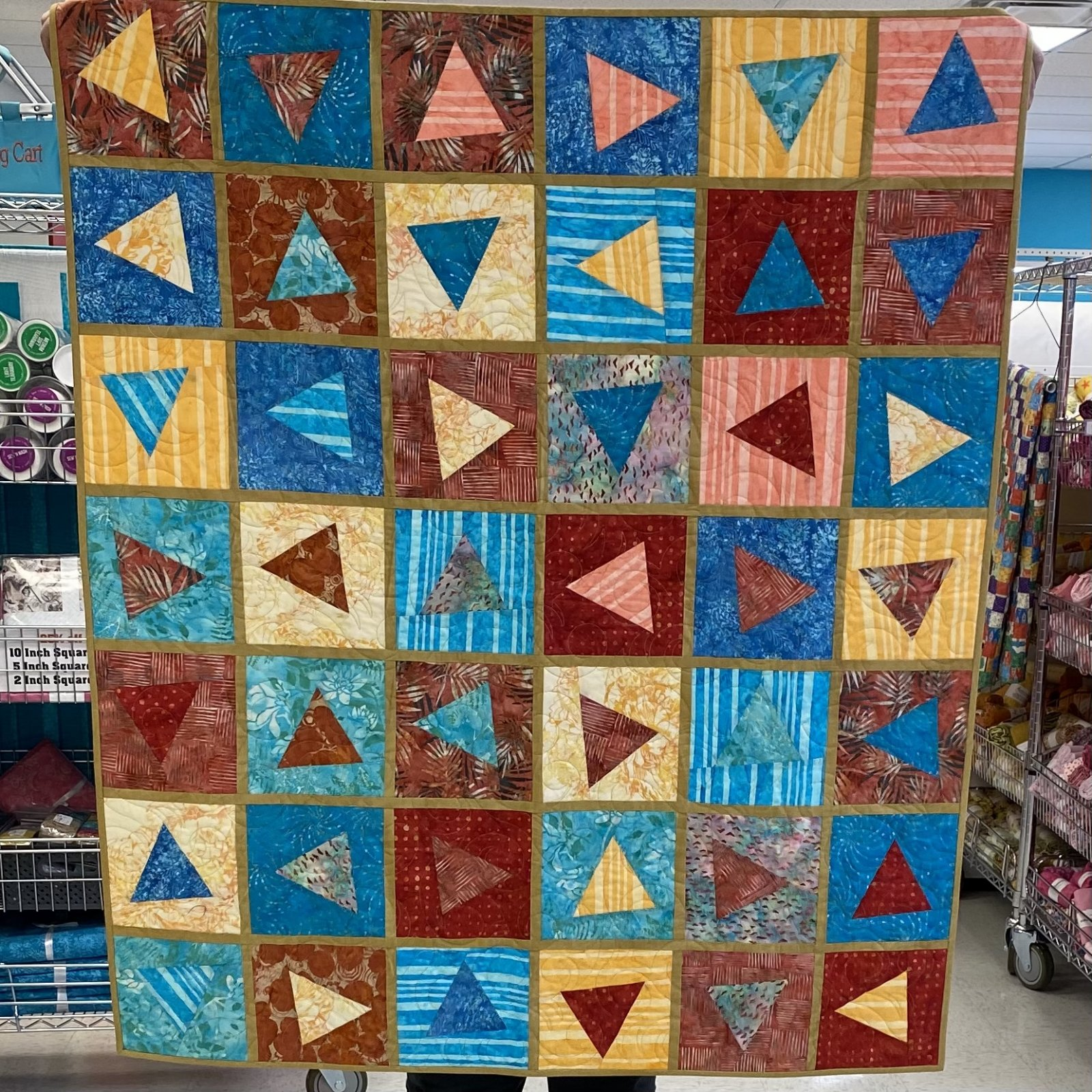 Triangle in a Square Quilt 42 x 49