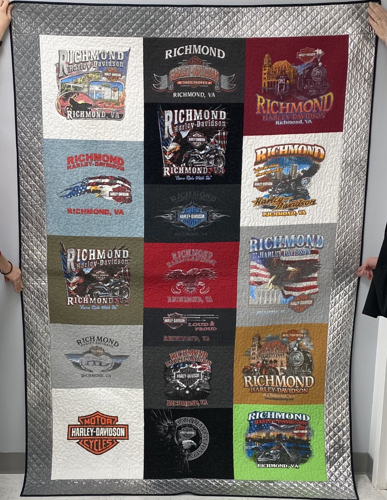 Harley T-Shirt Quilt 57 x 82
