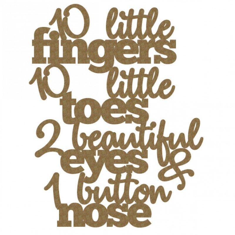 Creative Embellishments - 10 Little ..quote