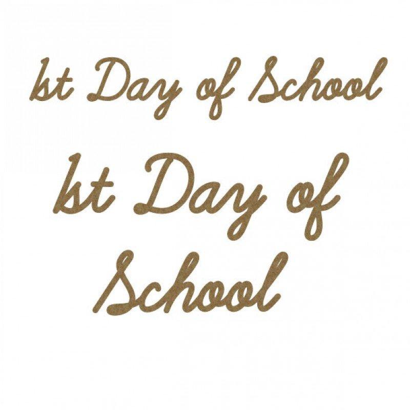 Creative Embellishments - 1st Day of School Title Set