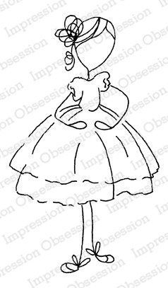 Impression Obsession Cling Stamp - Ballet Beauty