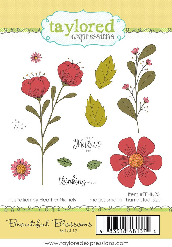 Taylored Expressions Cling Stamp - Beautiful Blossoms