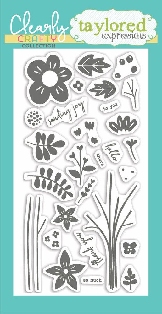 Taylored Expressions Clear Stamp  - Bouquet Whimsy