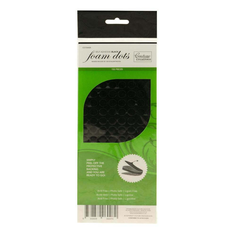 Couture Creations Adhesive - 3D Foam - Black Dots (150 pcs)