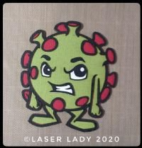 Laser Lady Coronavirus Germ (small) - Laser Title