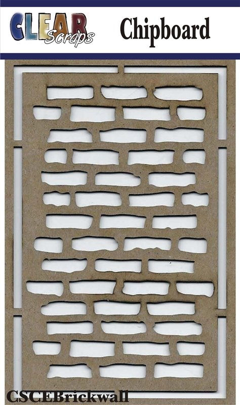 Clear Scraps - Brick Wall Chipboard Embellishments