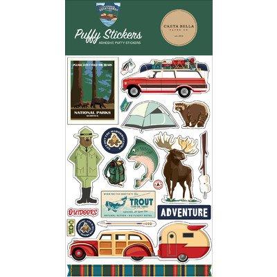 Carta Bella Puffy Stickers, Outdoor Adventures