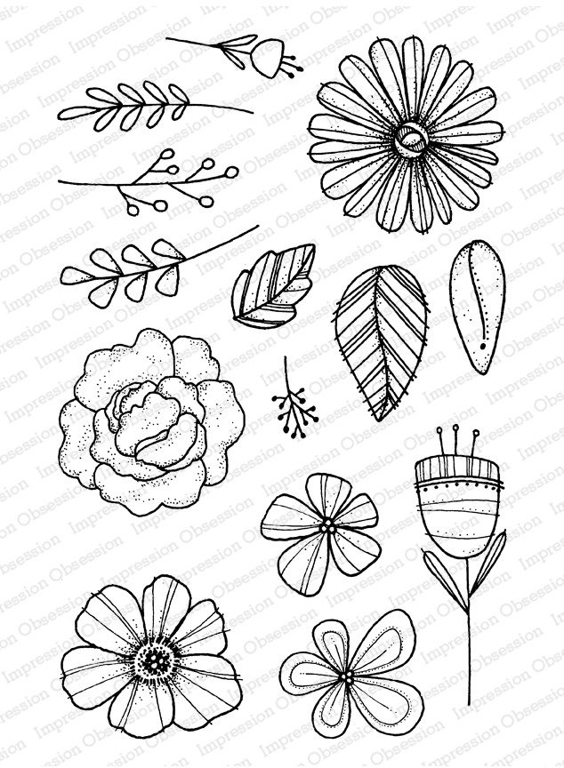 Impression Obsession Clear Stamp - Flora & Fauna