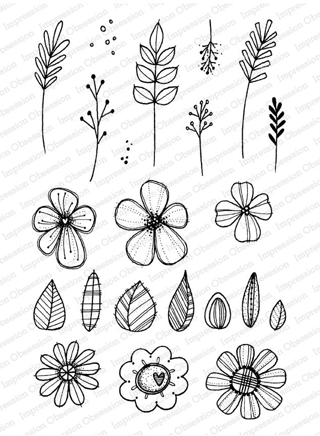 Impression Obsession Clear Stamp - Flower Bits