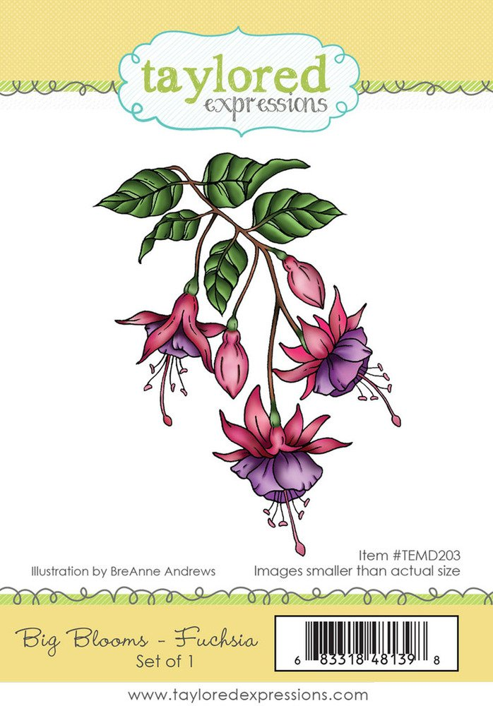 Taylored Expressions Cling Stamp - Big Blooms - Fuchsia
