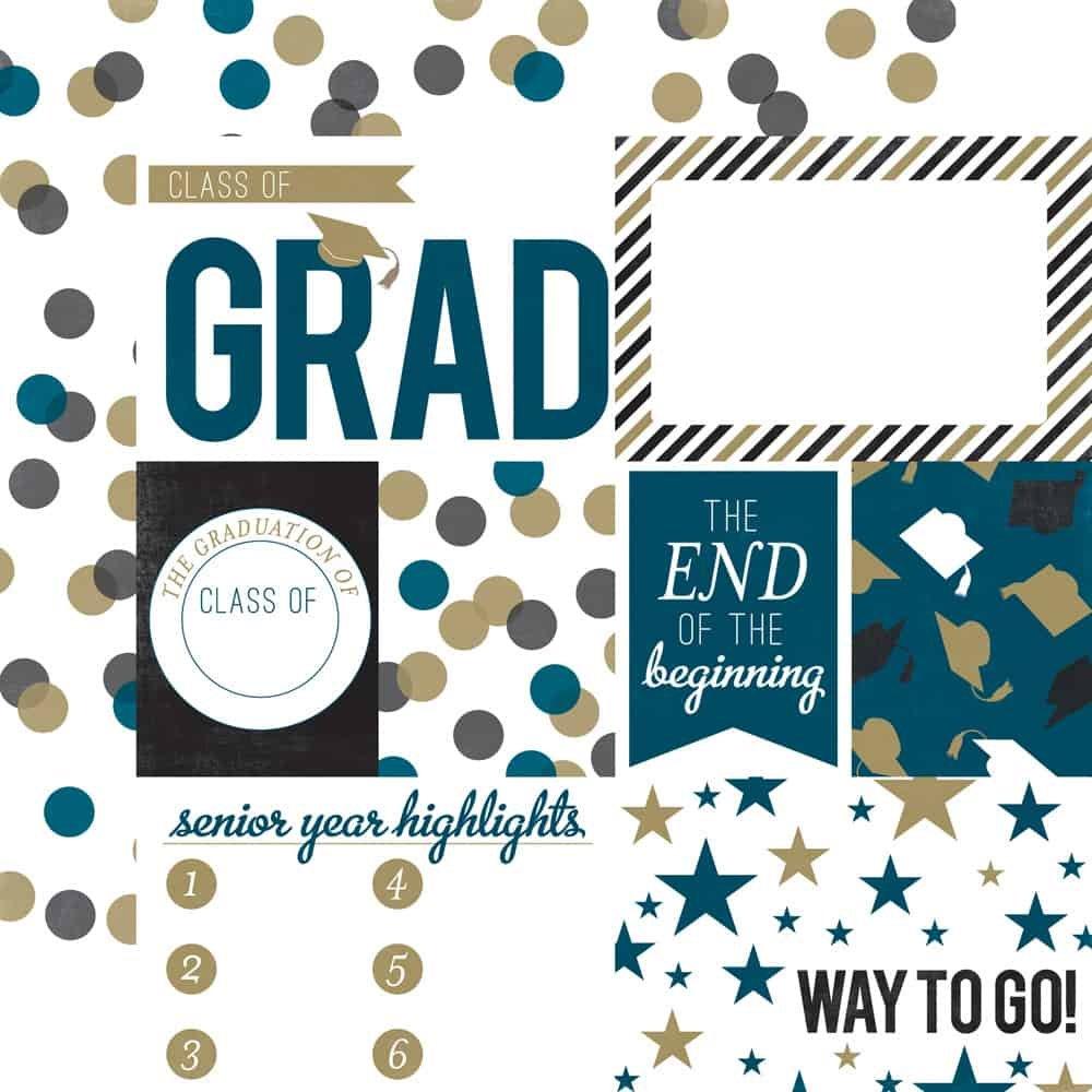 Graduation Journaling 12x12 Paper