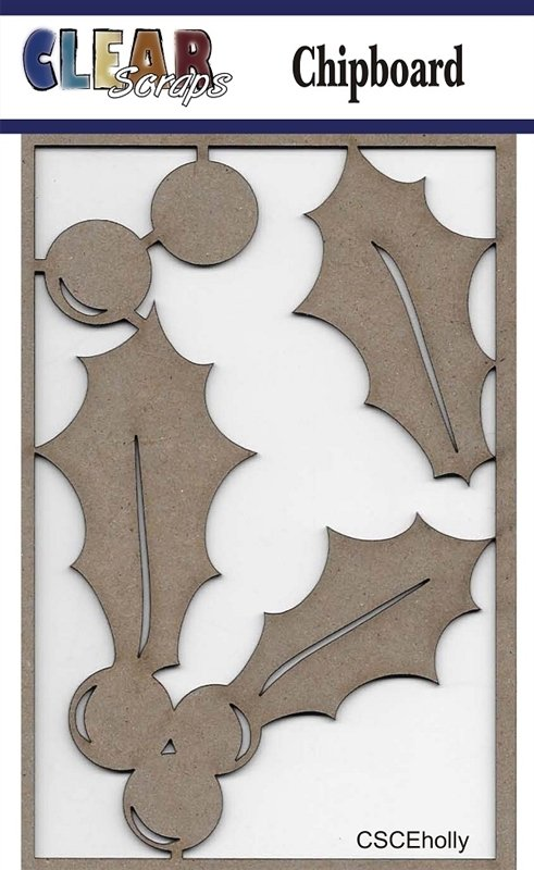 Clear Scraps - Holly Chipboard Embellishments