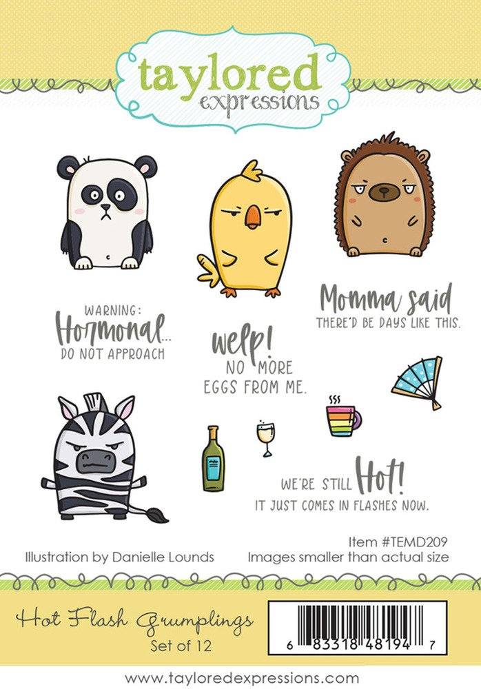 Taylored Expressions Cling Stamp, Hot Flash Grumplings