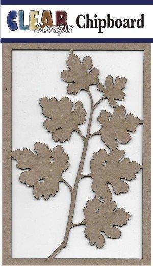 Clear Scraps - Maple Branch Chipboard Embellishments