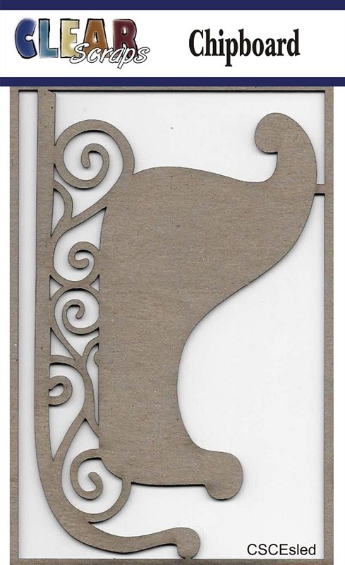 Clear Scraps - Sled Chipboard Embellishments
