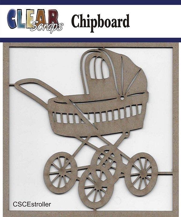 Clear Scraps - Stroller Chipboard Embellishments