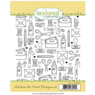 Taylored Expressions Cling Stamp, Art From the Heart Background