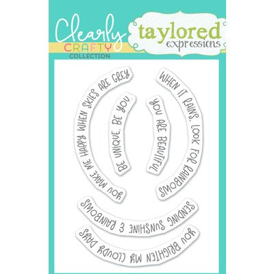 Taylored Expressions Clear Stamp, Over the Rainbow Sentiments