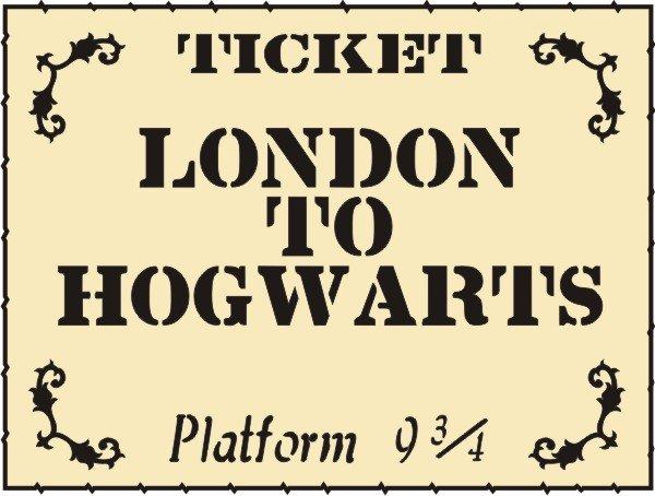 Petticoat Parlor - Hogwarts Ticket