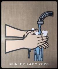 Washing Hands - Laser Cut