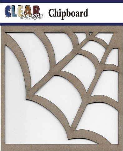 Clear Scraps - Spider Web Chipboard Embellishments