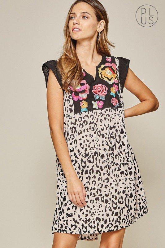 Curvy Leopard Jane Dress