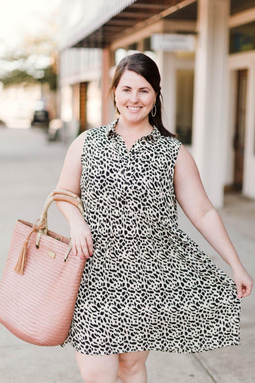 Curvy Animal Print Sleeveless Dress