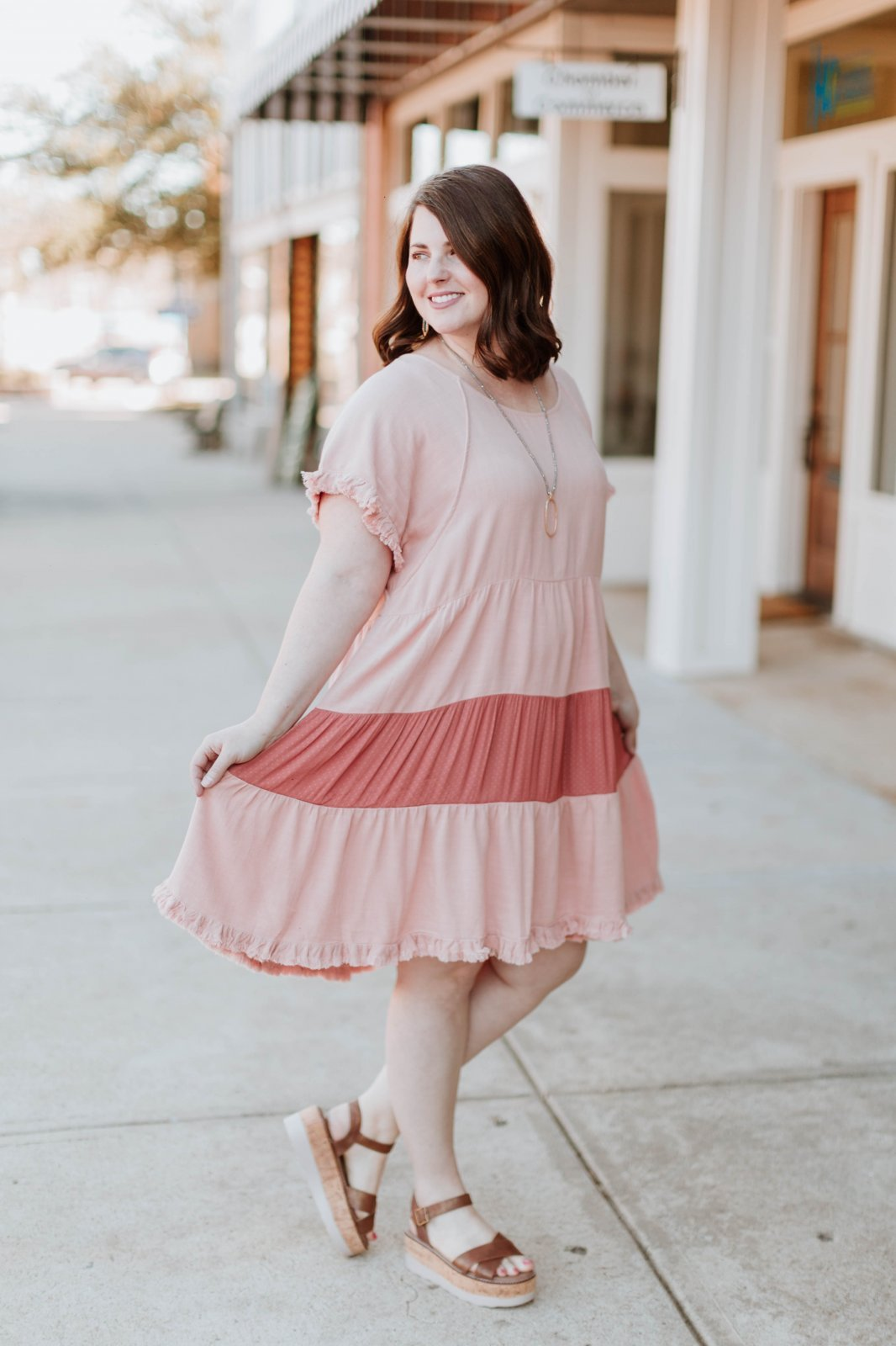 Curvy Ruffled Hem  Dress