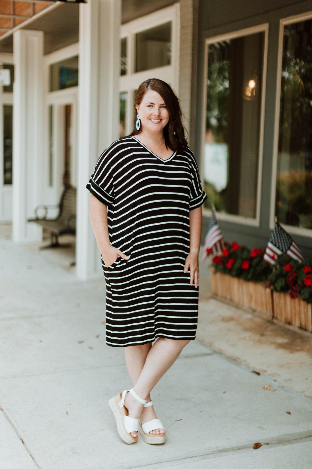 Curvy Striped Dress